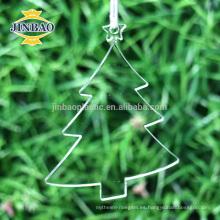 adornos acrílicos de encargo del patio de la Navidad, decoración de la Navidad del invierno