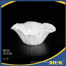 2015 new modern products manufactures white bone china salad bowl