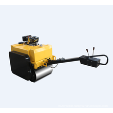 Hand-held construction machinery single drum road roller