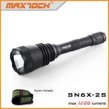 Maxtoch 2S Long Range Hunt lampe de poche, Version améliorée de SN6X-2S, One-Twist Strobe, Application de la loi, Police Flashlight