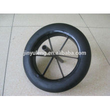 13x3 solid rubber wheel for wheelbarrow use