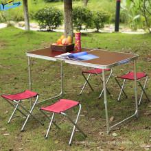 Mesa de jantar contemporânea mesa dobrável e cadeira conjunto