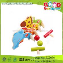 Jogo de jogo de croquet de animais novo de 2015, Jogo de croquete de madeira para crianças, Jogo Croquet barato