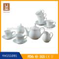 15 pcs cerâmica branca cerâmica porcelana chá pote jogo conjunto de chá