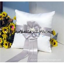 Chic flower nupcial casamento aliança travesseiro 2016