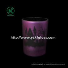 Цветные двойные стенные стеклянные чашки для свечей от SGS (KLB130916-197)