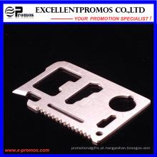 Venda Por Atacado Exército sobrevivência Pocket Multifuncional Creid Card Tool (EP-TS8127)