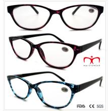 Ladies plástico colorido demi lectura gafas (wrp508333)