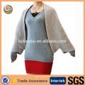 Femmes poncho en cachemire tricoté sur mesure