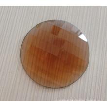 Transparent Unfoiled Back 25mm Round Flat Back Stones
