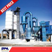 Gypse, moulin de poudre minérale d'application de kaolin pour le Vietnam