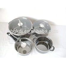 morror face unique products to sell enamel soup pot/milk pot