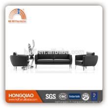 S-04 stainless steel fram leather office sofa FOB shenzhen