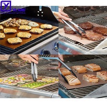 Home outdoor Easy Barbeque Customised Size PTFE Fireproof Non Stick BBQ Grill Mats