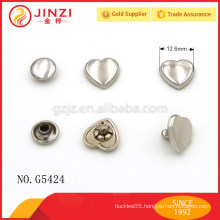 2015 fashion love heart shape jeans buttons and rivets