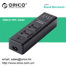 ORICO HPC-2A4U soquete de carregador de usb multifunções 4 portas de carregador USB e compatível com duas tomadas de alimentação de 3 pinos