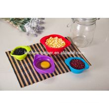 Top Selling Custom Design Herramientas de cocina Stackable plegable silicona Medición de tazas de ingredientes secos