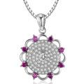 Hot Sales Micro Setting 925 Silver Circle Pendants Jewelry