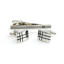 Enamel Cuff Links and Tie Bar