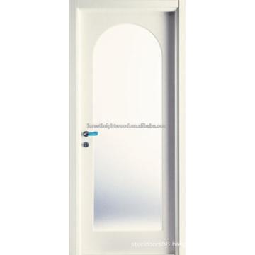 Radius Top Arched Glass Craftsman Wooden Door Design
