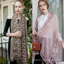 New Colorful cotton scarf plain hijabs for women viscose solid shawl Nice beads scarf muslim head wrap lace hijab scarves