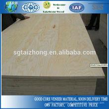 Contraplacado de madeira da classe da construção 15mm