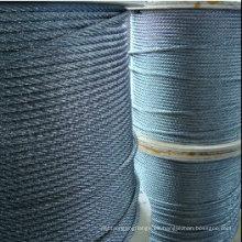 7X7 1X19 7X19 cuerda de alambre de acero inoxidable de alta calidad (fábrica, exportador)