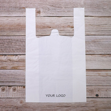 Eco Supermarket Shopping Biodegradable Compostable Environment Friendly Printing T-shirt Bags