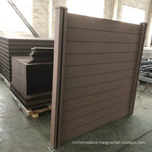 2021 New products DIY WPC fence panels for garden from factory
