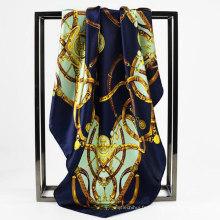 2017 vente chaude femmes satin écharpe pour hôtesse de l'air