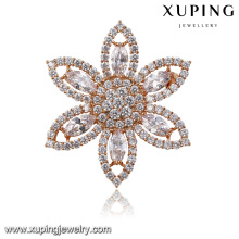 00026-xuping diamond jewelry brooch,gold plated wholesale bulk brooch