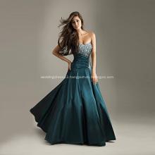 Magnificent Ball Gown Sweetheart Neckline Strapless Floor-length Drop-waist Taffeta Beading Evening Dress