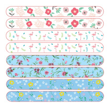 Private Label Double Side Emery Sandpaper Flower Pattern Sandpaper Nail File 180 grit