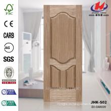 JHK-S02 Nuevo diseño Línea de madera inusual Alta calidad EV OAK Veneer Precio Make Door Skin
