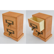 New Wooden Jewel Case with 2 Drawers