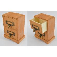 Caixa de jóia de madeira nova com 2 gavetas