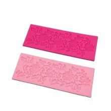Décoration de gâteau de silicone de mariage de tapis de dentelle de fleurs