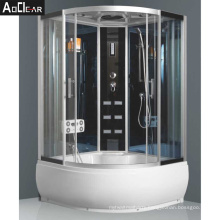 Aokeliya Steam Shower Cabin with Clear Door and Massage for 2 Person