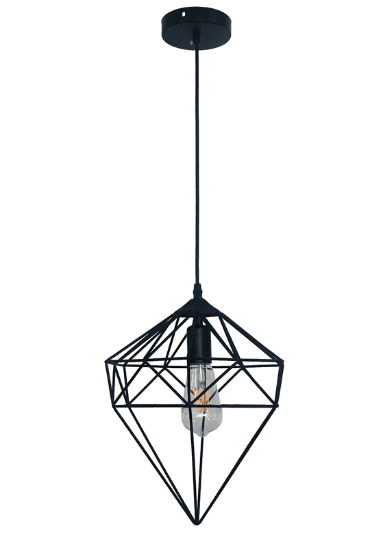 Geometric Light Off Black