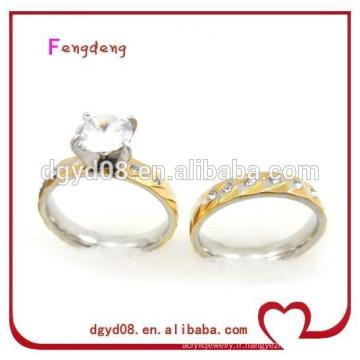 Acier inoxydable mariage bijoux en cristal fabricant en gros