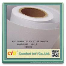 PVC de alta resistência revestido de poliéster PVC Banner Tela