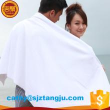 Toalla de microfibra de logotipo de hotel de toalla de baño de marca famosa bordado