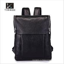 Корейский стиль Crazy Horse натуральная кожа мягкие молния ноутбук рюкзак