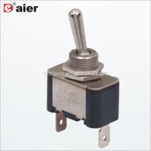 KN3A-101P 12MM 15A ON OFF 2 Position 2 Pin Interruptor de palanca SPST