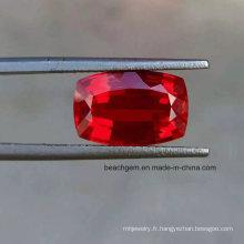 Laboratoire créé coussin rubis pierres précieuses en vrac