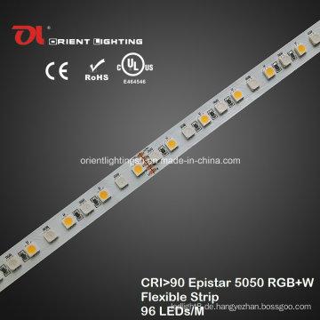 UL High CRI Epistar 5050 RGBW Flexibler Streifen 2600k LED-Licht