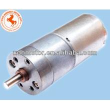 moteur à engrenages à faible vitesse de 25 mm cc à couple élevé, moteur à engrenages à 2 tours / minute 12v 24v