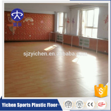 Wood pattern indoor portable pvc dance flooring
