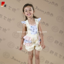 girls adjustable strap WD Wolf bubble romper