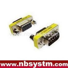 Drahtloser rs232 serieller Adapter, 9pin Mann zum weiblichen Geschlecht-Wechsler schwarz